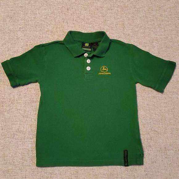 John Deere Green Boys 4 Polo shirt short sleeve